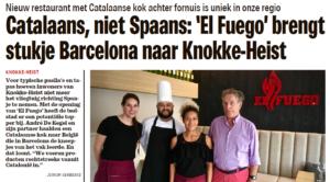 El Fuego in Het Nieuwsblad van 24/06/2017